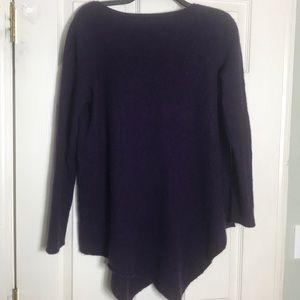 Joie cashmere blend asymmetrical sweater Sz L